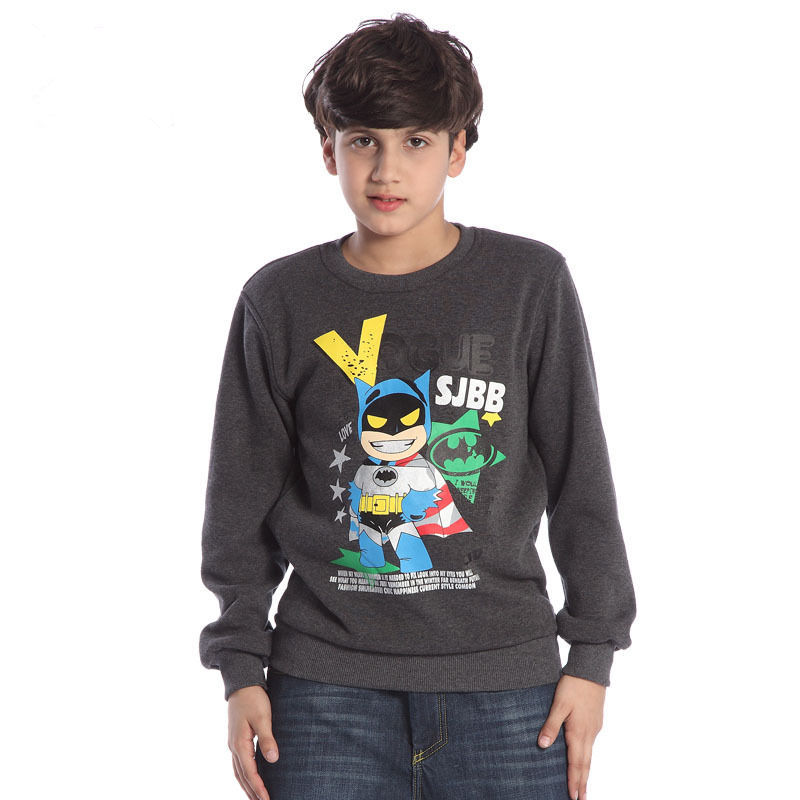 New fashion children hoody causal batman long sleeve for What size shirt for 8 year old boy