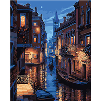 Painting By Numbers Frameless Hand Painted Modular Picture Diy Digital Oil Painting Venice City The Paintings