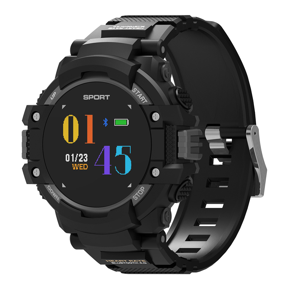 DTNO.I NO.1 F7 Smart Watch Real time Heart Rate Smartwatch Temperature Monitor GPS Call Alert Sports Outdoor