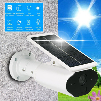 960P Solar Waterproof Battery Power Low Power Consumption Surveillance Camera WIFI Wireless Outdoor Camera for Home Security