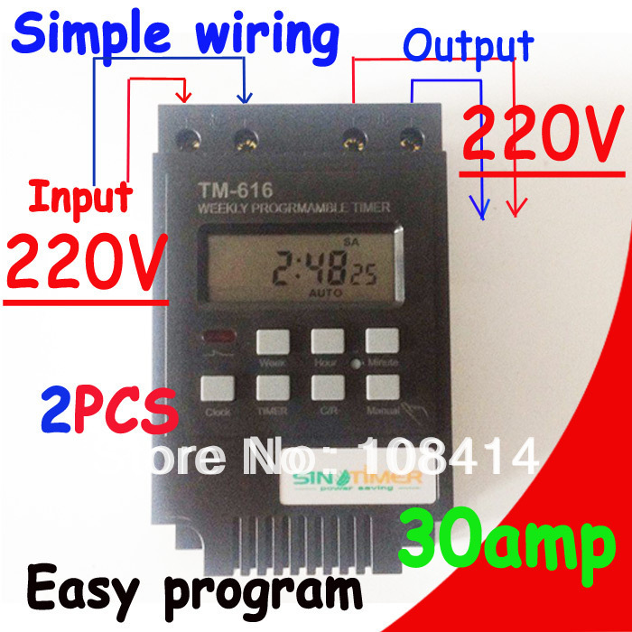 все цены на 30AMP 7 Days Programmable Digital TIMER SWITCH Relay Control Time 220V Din Rail Mount, FREE SHIPPING онлайн
