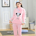 Lenço do Inverno Flanela Pijamas Mulheres Pijama Para Mulheres Pijamas Pijama Mujer Pijamas Parágrafo Como Mulheres Pijama Sleepwear Plus Size