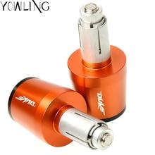 For ktm duke 125 duke 390 duke 200 duke 390 690 990 Motorcycle CNC 22MM Handlebar Grips Handle Bar Cap End Plugs With DUKE LOGO цена