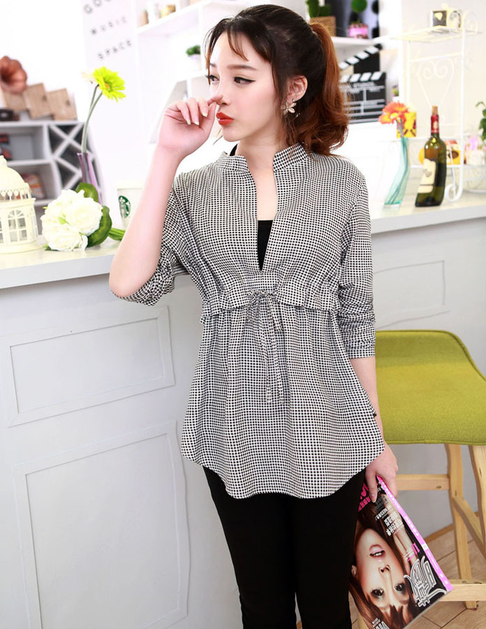9af362ec805 new design 2014 fashion tops for women office ladies summer plaid blusas  clothes clothing blouse blouses shirt shirts womem FC33-in Blouses   Shirts  from ...