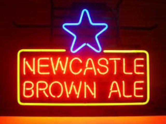 Newcastle Brown Ale Light  Glass Neon Light Sign