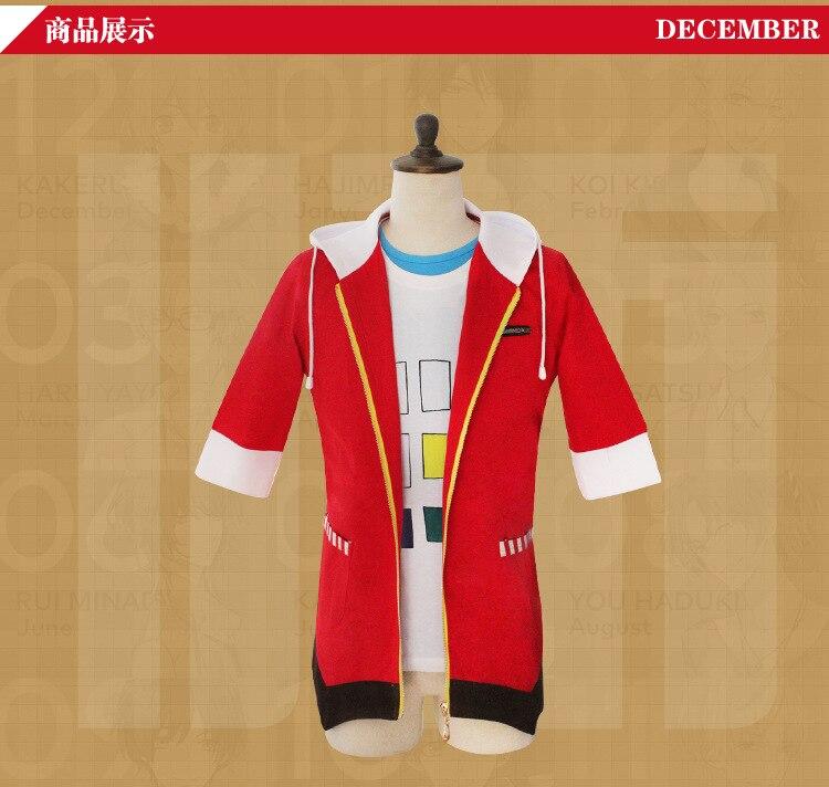 Wholesale Men Women Japanese Anime Cosplay Six Gravity Bright  Fashion Zipper sweater  ZXS-xh sweat 01