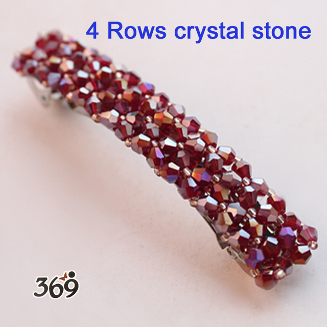 Suply 2013 the latest fashion 4 rows crystal stone shining hair clip