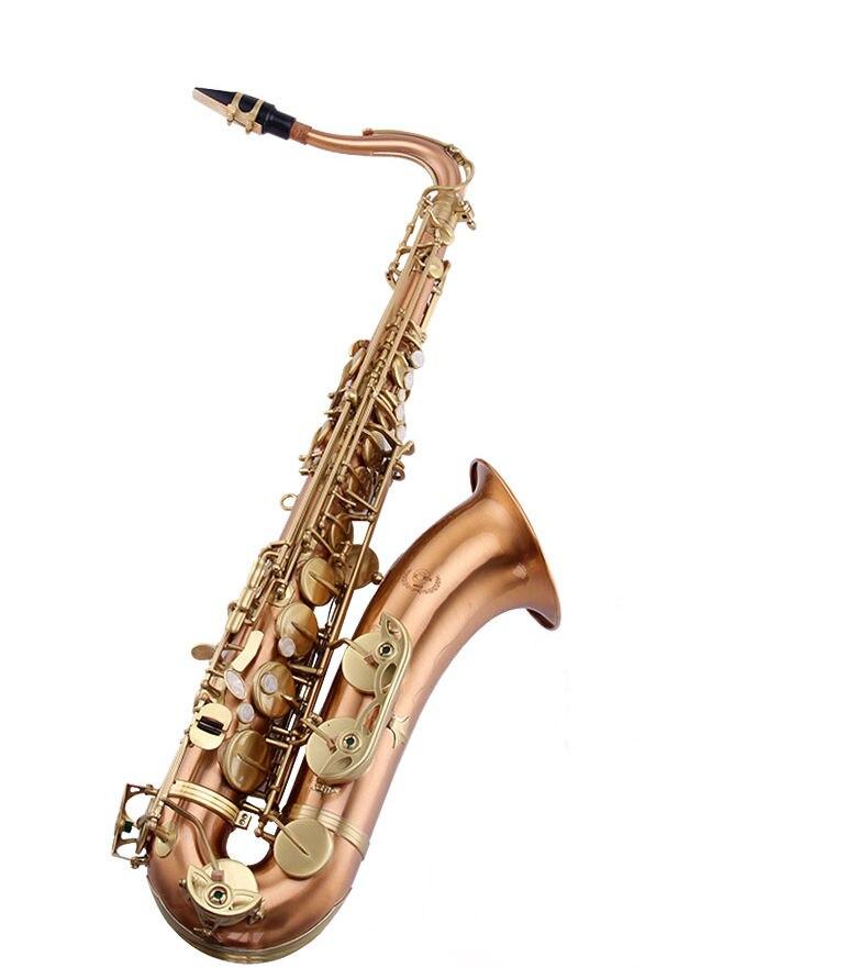 Saxophone ténor corps en laiton Rose finition mate finition brillante
