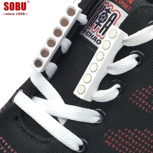 Thời trang Mới Lạ Mạnh Nhanh Chóng Từ Tính Dây Giày Cho Giày Sneakers Khóa Đóng Cửa Không Buộc Dây Giày Khóa T100
