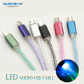 OUDNEAS Newest 1M LED Light Durable Micro USB Cable Charging & Data Sync Mobile Phone Cables for Samsung xiaomi Huawei HTC Line