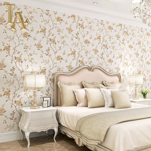 Noenname Null European Style Flower Wallpaper For Walls Decor Bedroom Living Room Modern Vintage Luxury Wall Paper