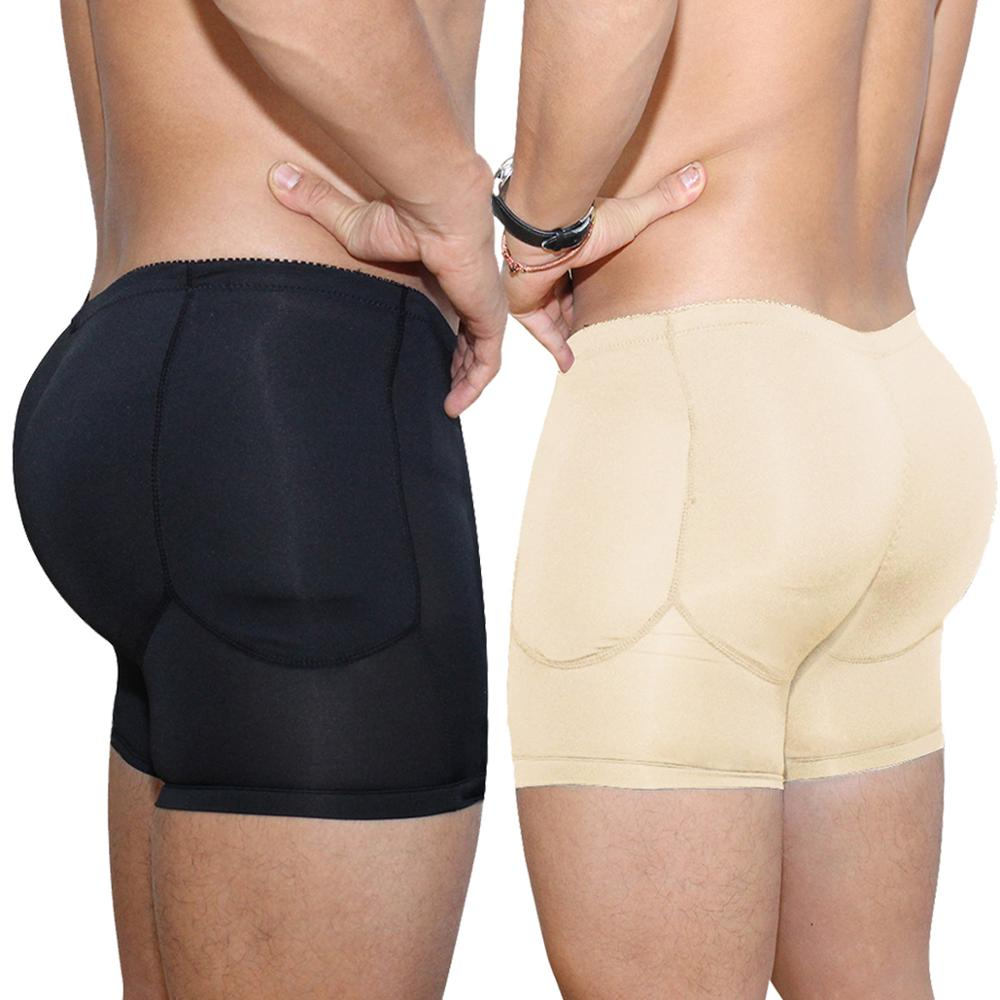 Men Underwear Padded Trunk-Shorts Package Butt-Lifter Boxer Gay Push-Up Enhancing Sexy