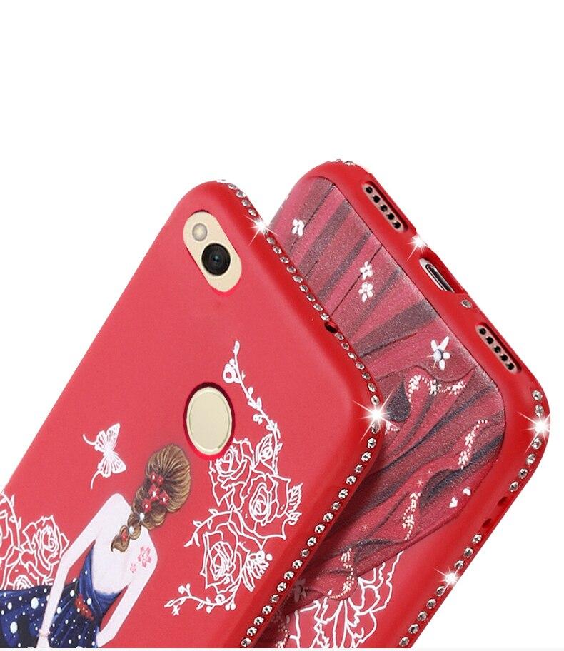 Dress girl silicone case huawei p smart (7)