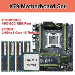 Kllisre X79 jeu de cartes mères avec Xeon E5 2689 4x8GB = 32GB 1600MHz DDR3 ECC REG mémoire ATX USB3.0 SATA3 PCI-E NVME M.2 SSD(China)