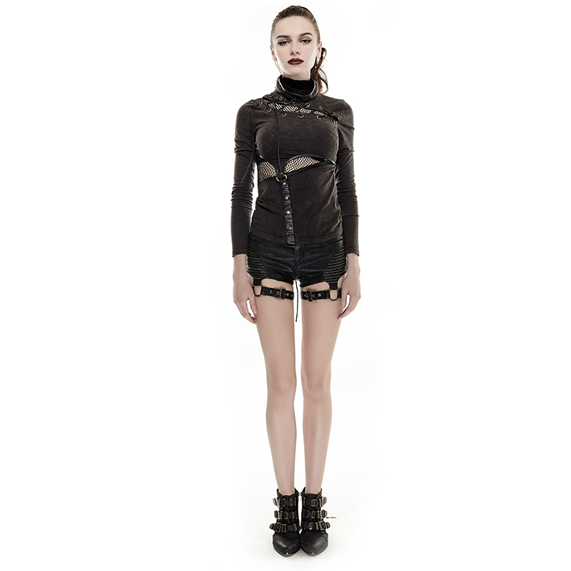Partie Coutures Shorts Noir Taille 2018 Femmes De Haute Short Super Du Bracelet Steampunk Sexy trdCxohQsB