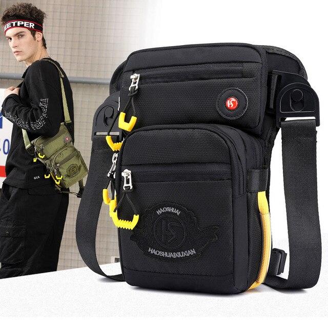 fashion Men Nylon Fanny Waist  Bags for Men Drop  Leg Bag Pack Belt Hip Bum  Thigh Pouch travel Crossbody Shoulder Bags New