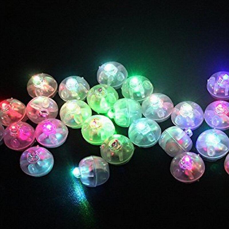 10 шт. мини-маленькие круглые светодиодный свет лампы led-вспышкой без линии световой Фонари для латекс Шарики Бумага Фонари Рождество свадеб...