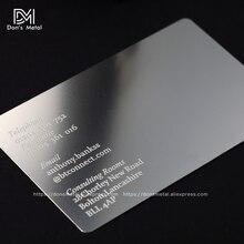 Cartão de visita de aço inoxidável, cartão de visita metal personalizável convexo convexo de qualidade em metal para cartão de visita