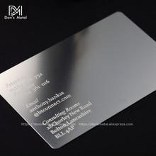 Carte de visite en acier inoxydable avec découpe concave de qualité, carte de membre en métal