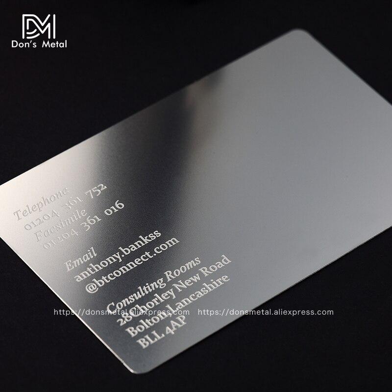 Us 122 85 9 Off Personalisierung Konkaven Konvexen Ausschnitt Qualität Edelstahl Business Metall Karte Metall Visitenkarte Metall Mitgliedschaft