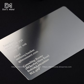 Dons metal cards store small orders online store hot selling and personalized concave convex man cutout quality stainless steel business metal card reheart