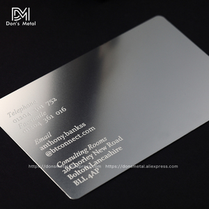 Image 1 - Personalizing concave convex cutout  quality stainless steel business metal card Metal business card metal membership card desig