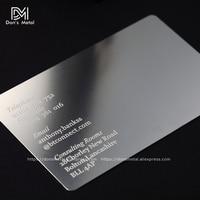 Personalizowanie wklęsłe wypukłe wycięcie jakości stal nierdzewna biznes metalowy na kartę metalowa wizytówka metalowa karta członkowska desig w Wizytówki od Artykuły biurowe i szkolne na