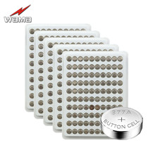 500pcs/pack Wama AG4 Button Cell Coin Batteries LR626 377 SR626SW Lithium Electronic Watches Battery Wholesale Retail Drop Ship ag4 lr626 1 55v alkaline cell button batteries 10 piece pack