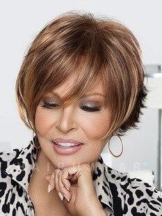 Mode Neue Frauen Stilvolle Womens Cut Frisur Synthetische Perucken