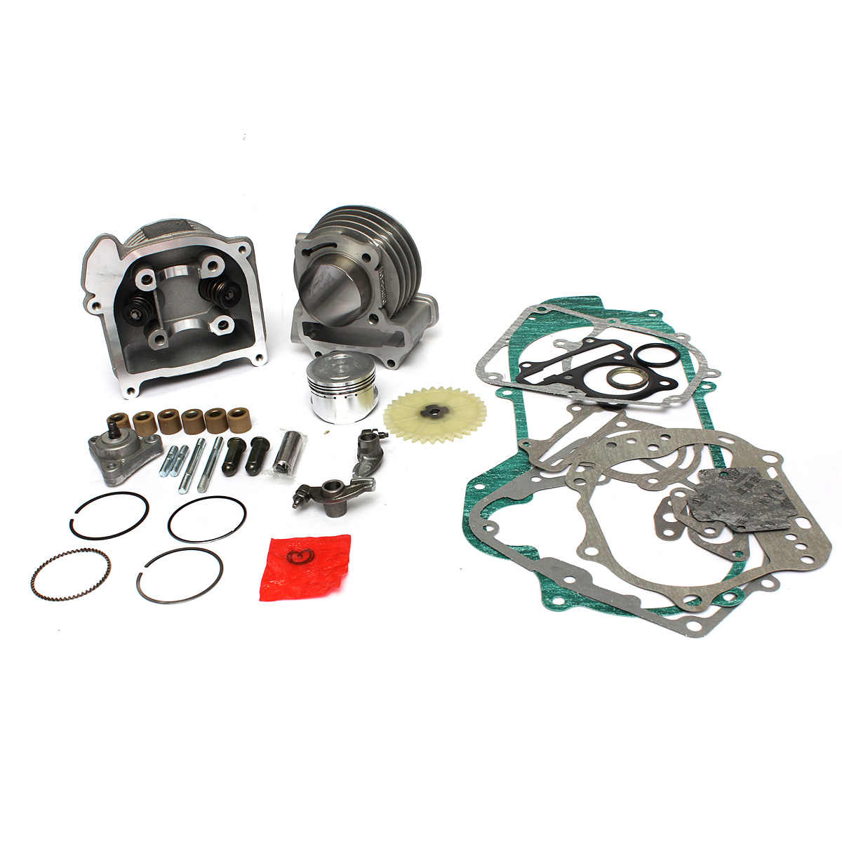 GY6 100cc 50cc 139QMB 50 Mm Big Bore Kinerja Cyinder Kit Cina Scooter Parts