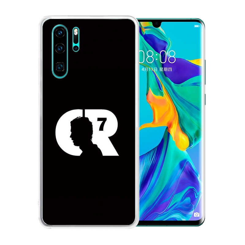 Zachte Siliconen Clear Tpu Case Voor Huawei P30 Pro P20 Lite P Smart 2019 Plus Duurzaam CR7 C Ronaldo Cover