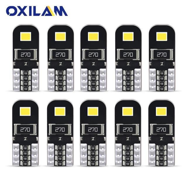 10 piezas T10 W5W LED Canbus Error gratuito lámpara de señal para Mercedes Benz W204 lectura coche bombilla de luz Interior 168 luz del maletero 194 12 V