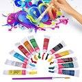 12Pcs/Set Colorful Acrylic Pigment Oil Paint Canvas Pigment Art Supplies Watercolor Painting Set Watercolor Pigment for Artist