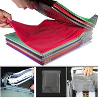10 Layers Clothes Fold Board Clothing Organizer Shirt Folder For Travel Home Closet Drawer Stack Home