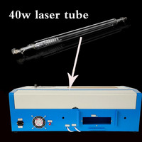 Shipping From DE 40W Hermetic CO2 Glass Laser Tube 13 15mA For Laser Engraver Machine