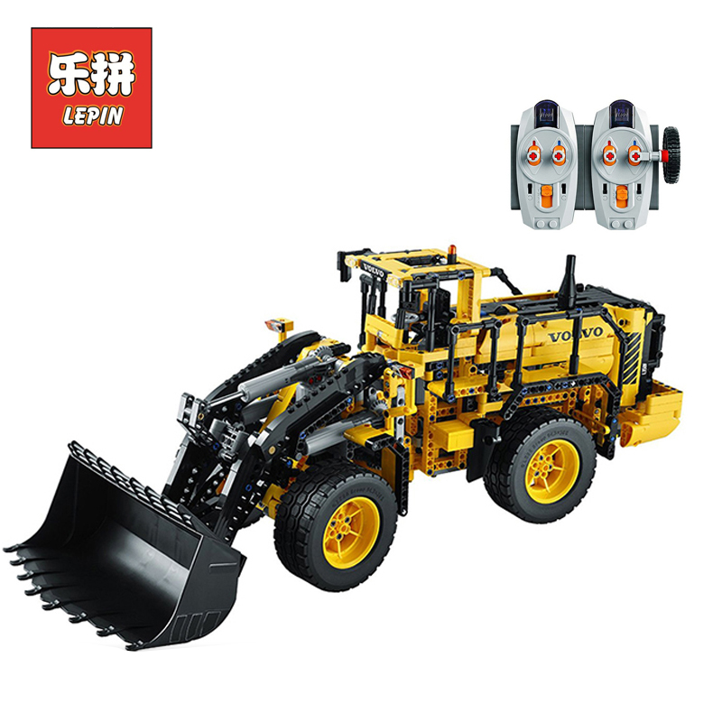 LEPIN 20006 technic series 1636pcs Volvo L350F wheel loader Model Building blocks Bricks Compatible with 42030 Childre DIY Gift lepin 20006 technic series volvo l350f wheel loader model building kit blocks bricks compatible with toy 42030