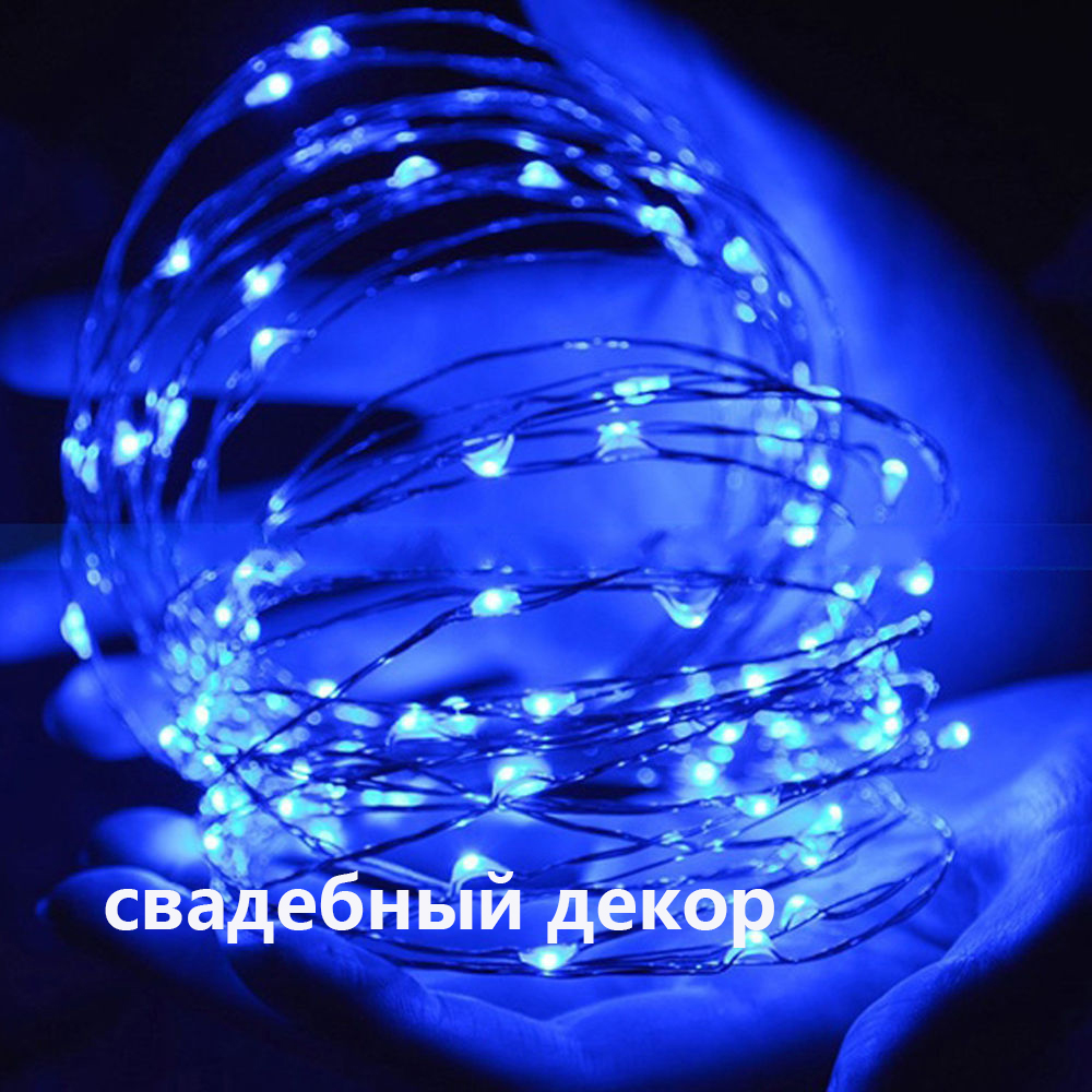10M 100LED Christmas Fairy Lights Copper Wire LED Starry Lights DC 12V Blue Warm White RGB LED ...