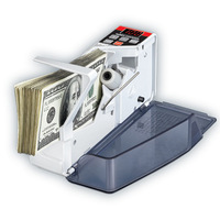 1pcs V40 Mini Portable Handy Bill Cash Money All Currency Counter Counting Machine