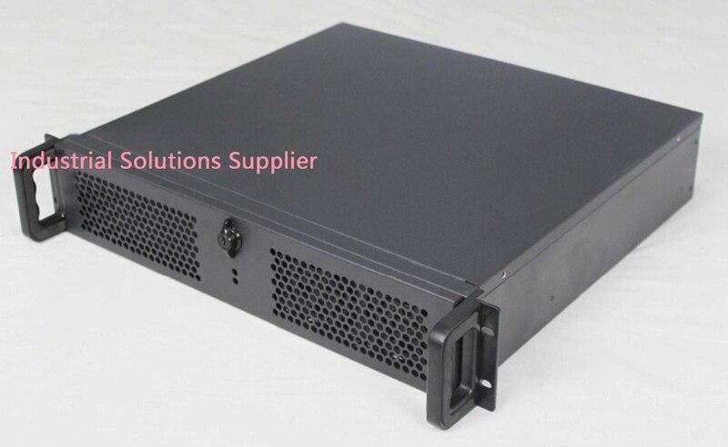 все цены на  NEW Ultra-short 2u computer case full open door black 4 plate pc power supply 2u server short box computer case  онлайн