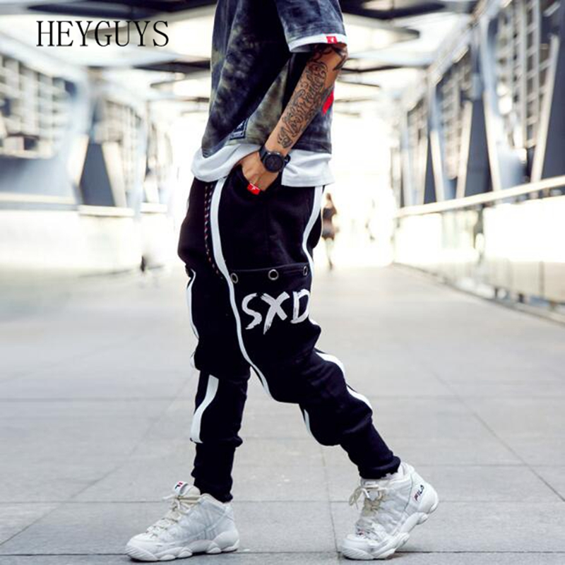 Pants Casual Trousers Sports-Beam Europeand Street-Fashion Men's The Trend United-States