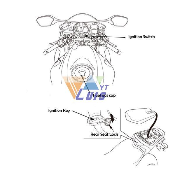 Aluminum Motorcycle Fuel Gas Cap Cover Ignition Switch Seat Lock Key Set for Honda CBR600 F4 cbr 600 f4 wiring diagram 2006 honda cbr 600 f4i service manual 2002 cbr f4i wiring diagram at bayanpartner.co