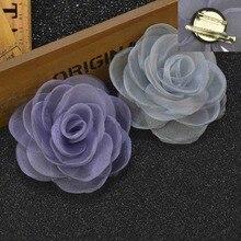 20 pcslot , Women's Sheer Rose Flower Hair Clip Brooch Pin, Wedding embellishment