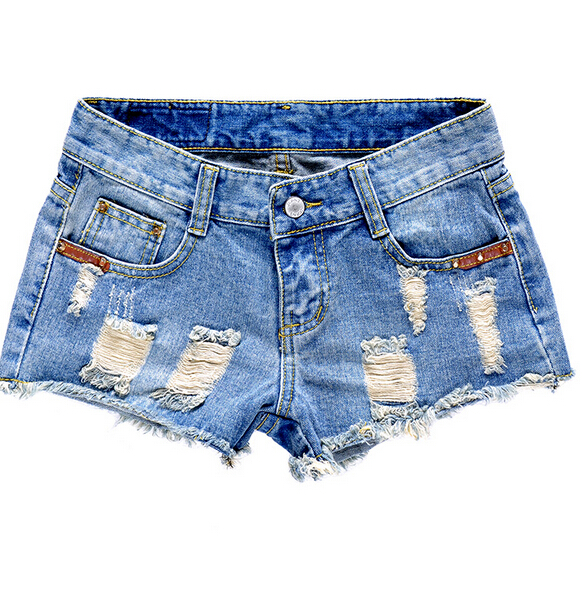 Ripped Jean Shorts Women