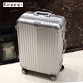 Universal wheels aluminium frame+PC shell Luggage,registered checked trolley Suitcase,password TSA Lock high quality travel bag