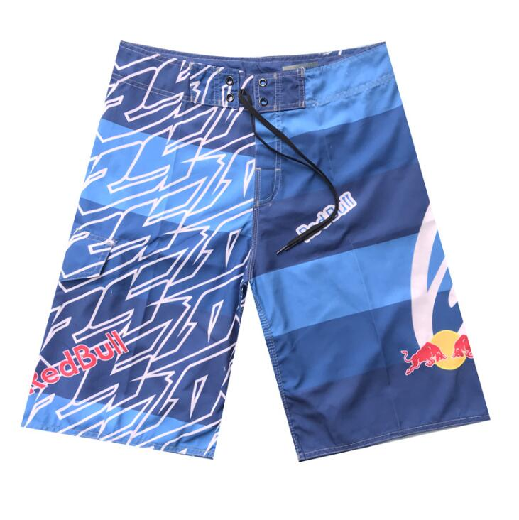 Shoreline Fashion Cool Summer Men Jeans Blue Surf Shorts Plus Size Sports Beach Stripes Print Men Swimming Shorts Quick Dry