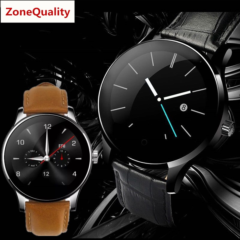 ZoneQuality K88H round screen heart rate monitoring smartwatch Bluetooth watch For iPhone IOS Android phone for men women watch цена и фото