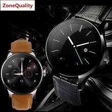 ZoneQuality K88H rodada tela de monitoramento da freqüência cardíaca relógio Bluetooth smartwatch Para iPhone IOS Android phone para das mulheres dos homens assistir