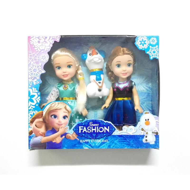 New Mini Princess Elsa Anna Olaf Baby Dolls Kids Cartoon