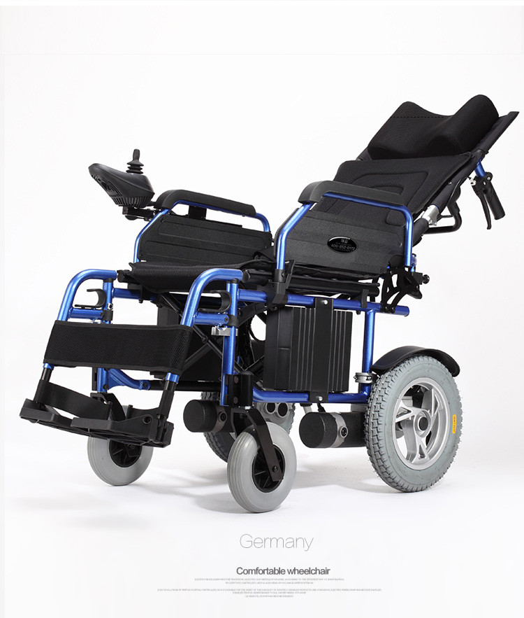 High quality folding recline electric wheelchair for handicapped