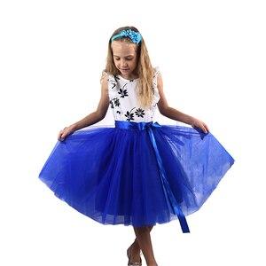 Image 1 - Рождественские фатиновые юбки для девочек, длинные юбки пачки принцессы с эластичным поясом, шифоновое детское бальное платье, одежда для девочек, детская одежда